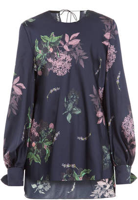 Lake Studio M'O Exclusive Floral Long Sleeve Top