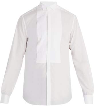 Valentino Wingtip Collar Single Cuff Cotton Shirt - Mens - White