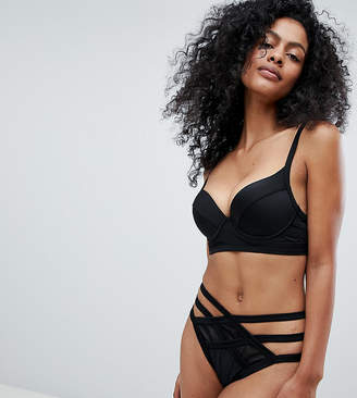 Wolfwhistle Wolf & Whistle Exclusive mesh insert strappy bikini bottom