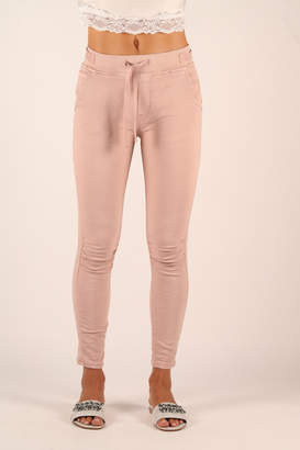 Femme Fatale Ruched Jogger with Tie Waist