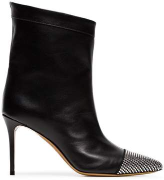Alexandre Vauthier black Cha Cha 90 diamante leather boots