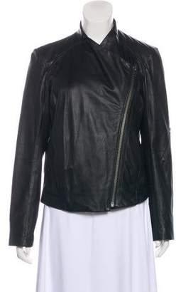 Helmut Lang Leather Zip Up Jacket