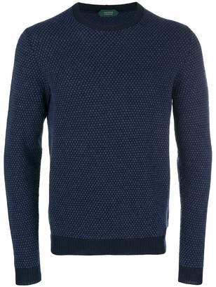 Zanone spotted knit sweater