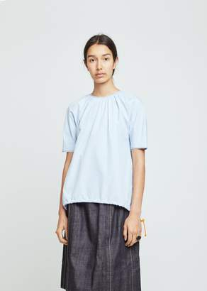 Marni Cotton Poplin Short Sleeve Blouse