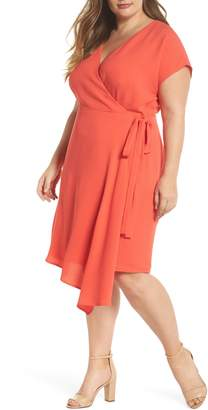 London Times Crepe Surplice Dress