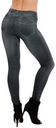 Imitation Denim VSVO Women's True Pocket Flock Slim-fit Leggings (Large/X-Large, )