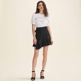 Maje Floaty T-shirt with lace