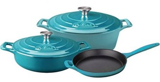 La Cuisine PRO 5-Piece Enameled Cast Iron Cookware Set, Oval Casserole