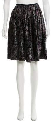 Burberry Printed Velvet Skirt