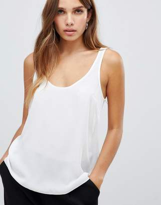 Asos DESIGN longline tank with scoop neck