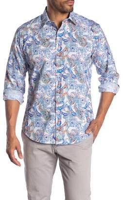 Robert Graham Shooting Star Patterned Long Sleeve Classic Fit Shirt