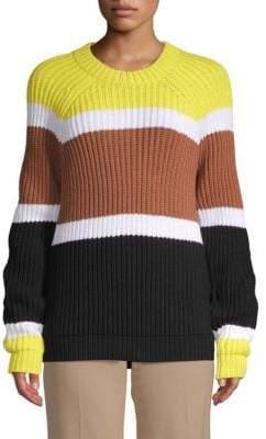Derek Lam Colorblock Roundneck Sweater