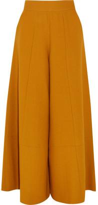 Merchant Archive - Wool-crepe Wide-leg Pants - Mustard $1,835 thestylecure.com
