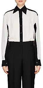 Givenchy Women's Colorblocked Silk Blouse - White