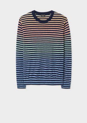 Paul Smith Men's Multi-Colour Gradient Stripe Sweater
