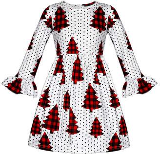 Mia Belle Girls Christmas Dress