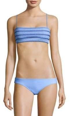 Kisuii Adrianna Smocked Bikini Top