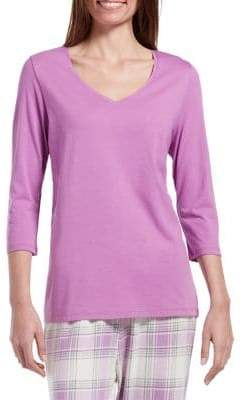 Hue Three-Quarter Sleeve Pajama Top