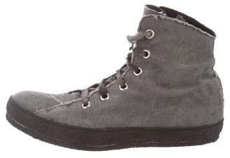 A1923 Canvas High-Top Sneakers