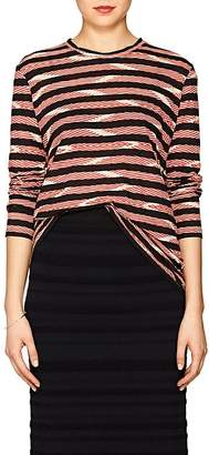 Proenza Schouler Women's Chevron-Striped Cotton Jersey Long-Sleeve T-Shirt