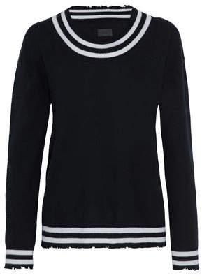 RtA Distressed Striped Cashmere Sweater