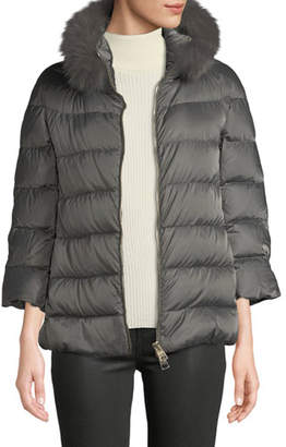 Herno Fur-Collar Down-Fill Puffer Coat