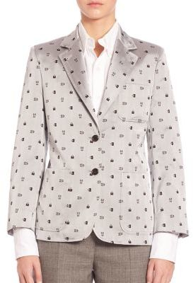 Thom Browne Printed Silk Jacket $2,500 thestylecure.com