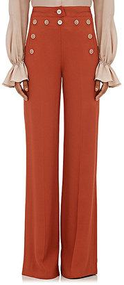 Derek Lam Women's Cady Sailor Pants-DARK ORANGE, RED $1,495 thestylecure.com