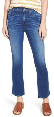 Caslon High Waist Crop Flare Jeans (Regular & Petite)
