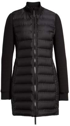 Andrew Marc Puffer Coat with Puff Knit Sleeves