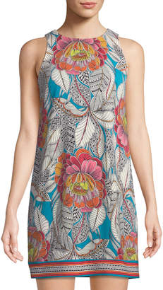 Trina Turk Macee Sleeveless Floral Jersey Shift Dress, Multicolor