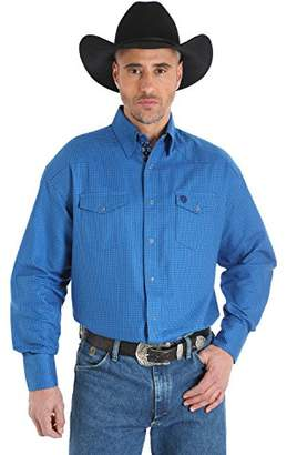 Wrangler Tall Men's George Strait Troubadour Big Two Pocket Woven Shirt