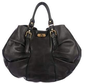 Marni Pleated Leather Hobo Black Pleated Leather Hobo