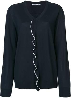 Agnona ruffle front sweater