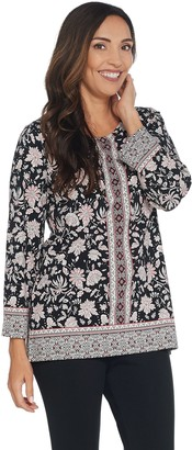 Susan Graver Weekend Printed Cotton Modal Tunic