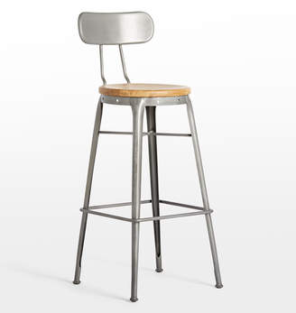 Rejuvenation Cobb Bar Stool with Back
