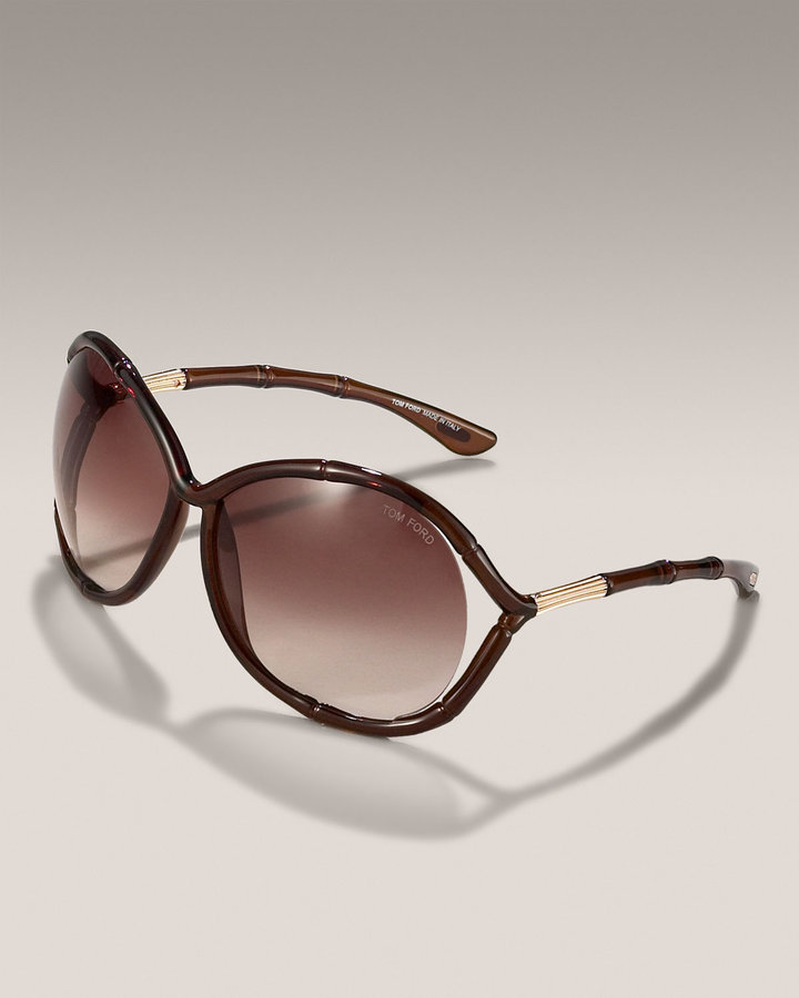 Tom Ford Claudia Round-Lens Sunglasses