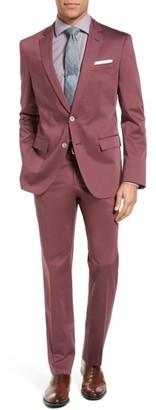 Men's Boss Hutson/gander Trim Fit Solid Stretch Cotton Suit $845 thestylecure.com