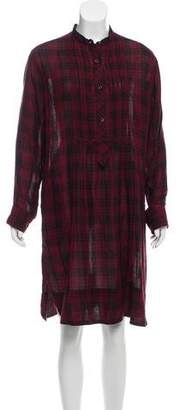 Etoile Isabel Marant Plaid Knee-Length Dress