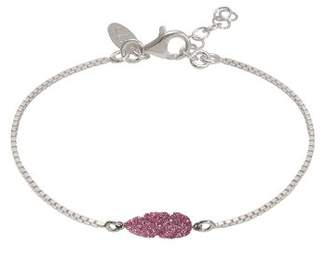 Very Sisters BRM61SP-Plume Glitter-Chain Bracelet Silver 925/1000 14 cm 15 g Pink