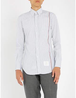 Thom Browne Striped slim-fit cotton shirt