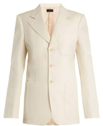 Joseph Genova Single Breasted Patch Pocket Blazer - Womens - Cream