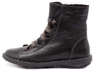 New Effegie Subai Black Womens Shoes Comfort Boots Ankle
