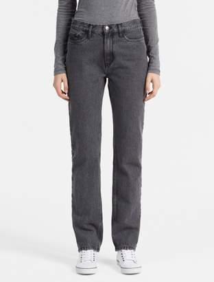 Calvin Klein straight leg black high rise jeans