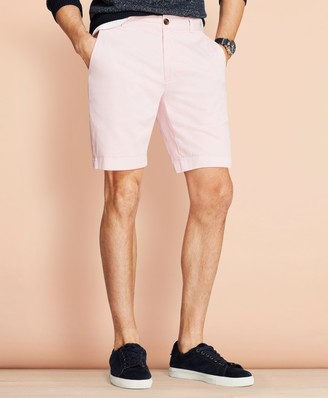 """Brooks Brothers Garment-Dyed Stretch Chino 9"""" Shorts"""
