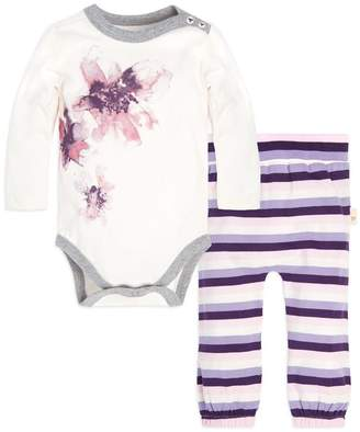Burt's Bees Exploded Petals Organic Baby Bodysuit & Footed Pant Set