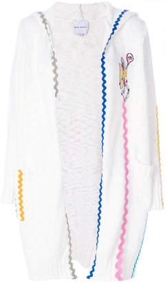 Mira Mikati wave ribbon hooded cardigan
