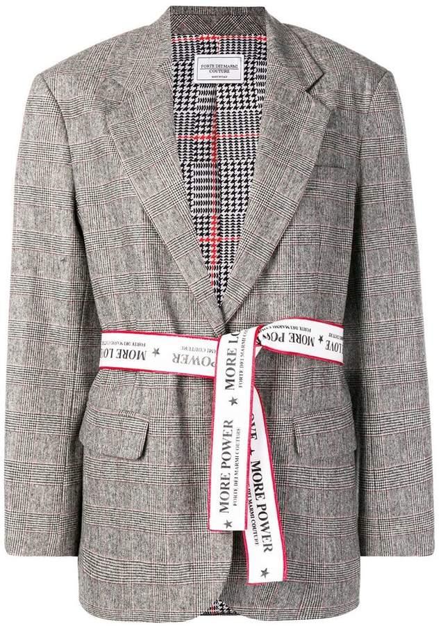 Forte Dei Marmi check belted blazer