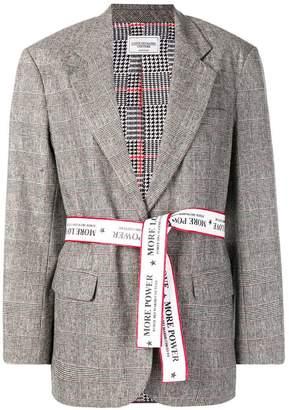 Couture Forte Dei Marmi check belted blazer
