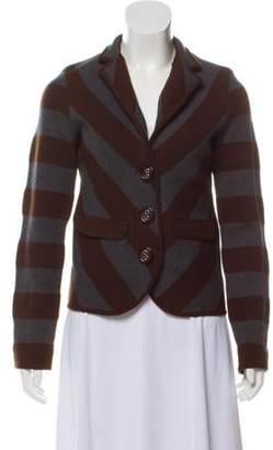 Alice + Olivia Striped Lightweight Cardigan Brown Striped Lightweight Cardigan